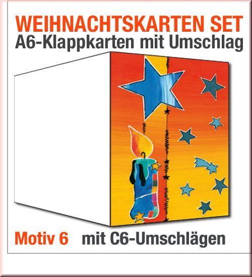 weihnachtskarten mit briefumschl gen im sparpaket motiv 06. Black Bedroom Furniture Sets. Home Design Ideas