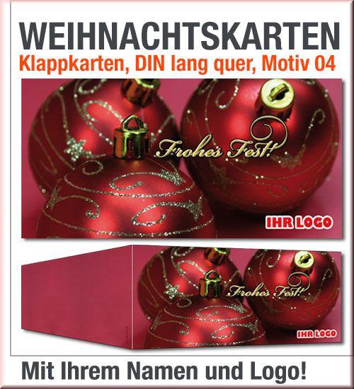 Rote Weihnachtskarten.Rote Din Lang Weihnachtskarten Mit Gold