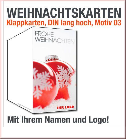 Rote Weihnachtskarten.Frostige Weiß Rote Weihnachtskarten In Din Lang
