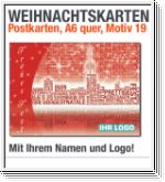A6-Weihnachts-Postkarten, rot, multilingual