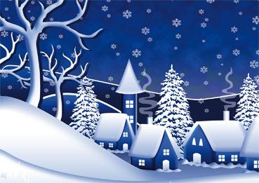 a6 weihnachtskarten blaue schneelandschaft. Black Bedroom Furniture Sets. Home Design Ideas