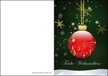 weihnachtskarten sparpaket mit rot goldener kugel. Black Bedroom Furniture Sets. Home Design Ideas